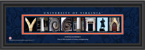 Virginia Campus Letter Art Personalized Print 3310