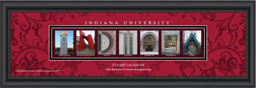 Indiana Campus Letter Art Personalized Print 4020
