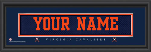 Virginia Jersey Nameplate Personalized Print