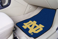 Notre Dame 2-Pc Carpet Auto Mat Set