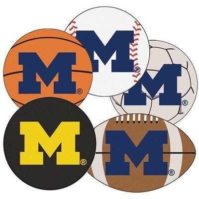 Michigan Sports Ball Rugs
