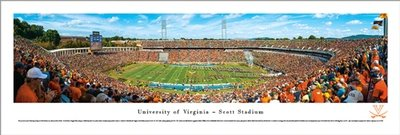UVA Scott Stadium 50-Yard Line Panoramic Print