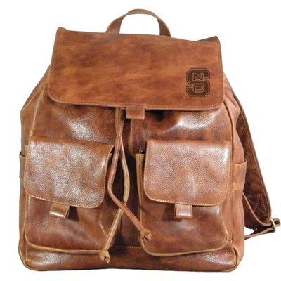 NC State Wolfpack Westbridge Leather Rucksack