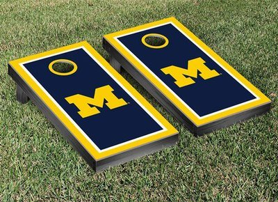 Michigan Cornhole Game Set - Block M Border
