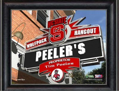 NC State Sports Hangout Personalized Print
