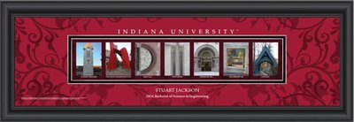 Indiana Campus Letter Art Personalized Print