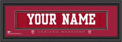 Indiana Jersey Nameplate Personalized Print