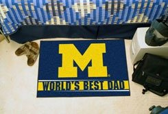 Michigan World's Best Dad Mat