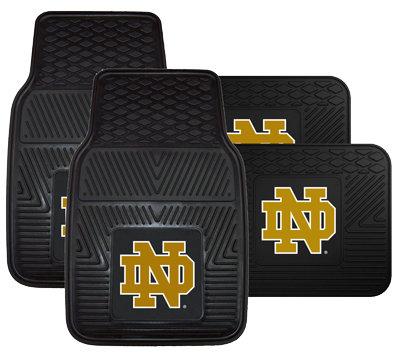 Notre Dame Vinyl Auto Mat Set (4-piece)