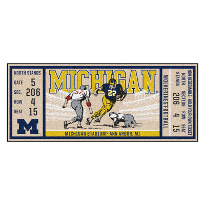 Michigan Ticket Runner Mat