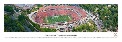 UVA Scott Stadium Aerial Panoramic Print 3301