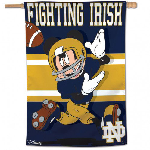 Notre Dame Mickey Mouse Vertical Banner