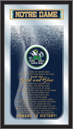 Notre Dame Fight Song Mirror 6670