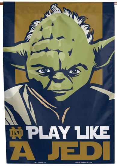 Notre Dame Star Wars Jedi Vertical Banner 6140