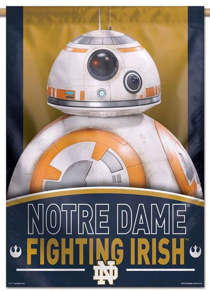 Notre Dame Star Wars BB-8 Droid Vertical Banner 6141