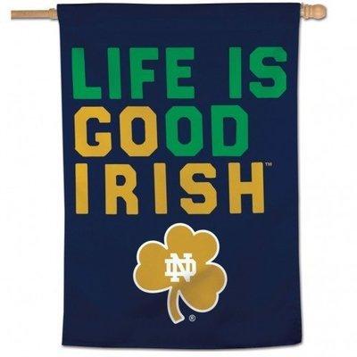 Notre Dame Vertical Banner   Life Is Good: Go Irish