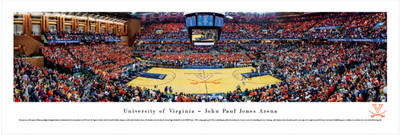 UVA John Paul Jones Basketball Arena Panoramic Print