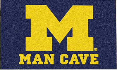 Michigan Wolverine Man Cave Rug/Mat: 4 Sizes Available!