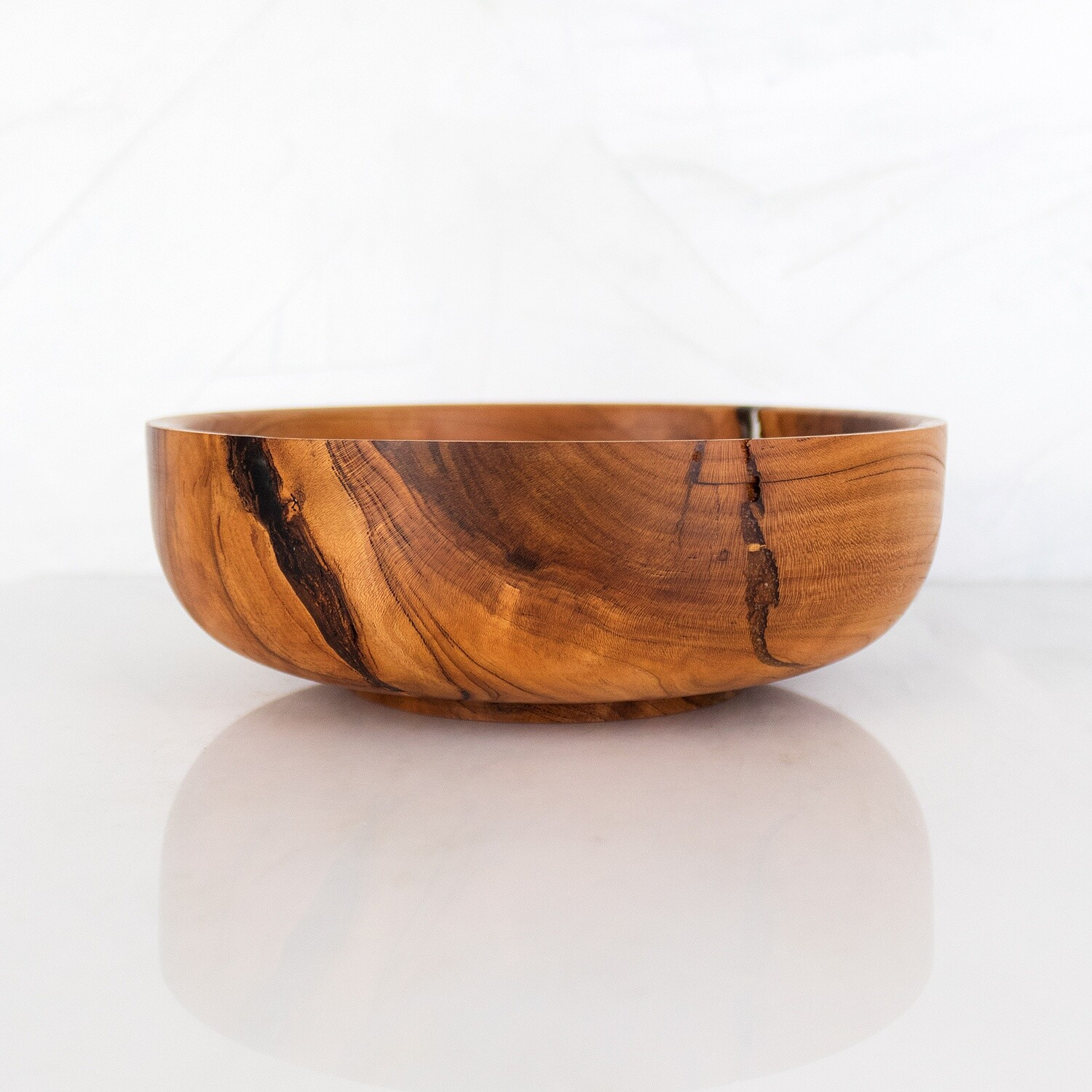 Cherry Wood Bowl, FREYA, Hand Turned Wooden Dish