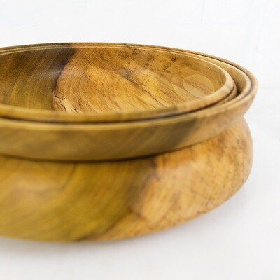 Modern Wood Bowl, AEON, Handturned Poplar Dish