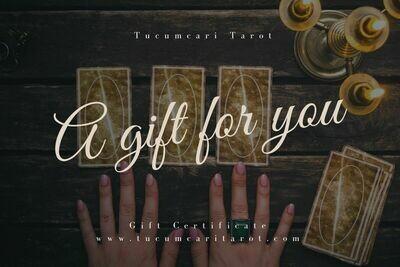 Tucumcari Tarot Gift Card
