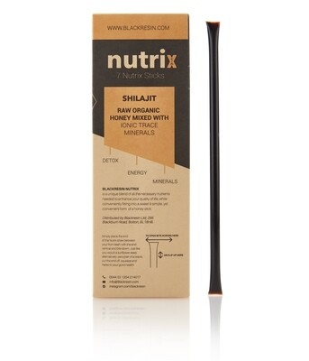 Nutrix - X 7 Sticks | 100% Raw Organic Honey, mixed with Pure Shilajit Resin (Copy)