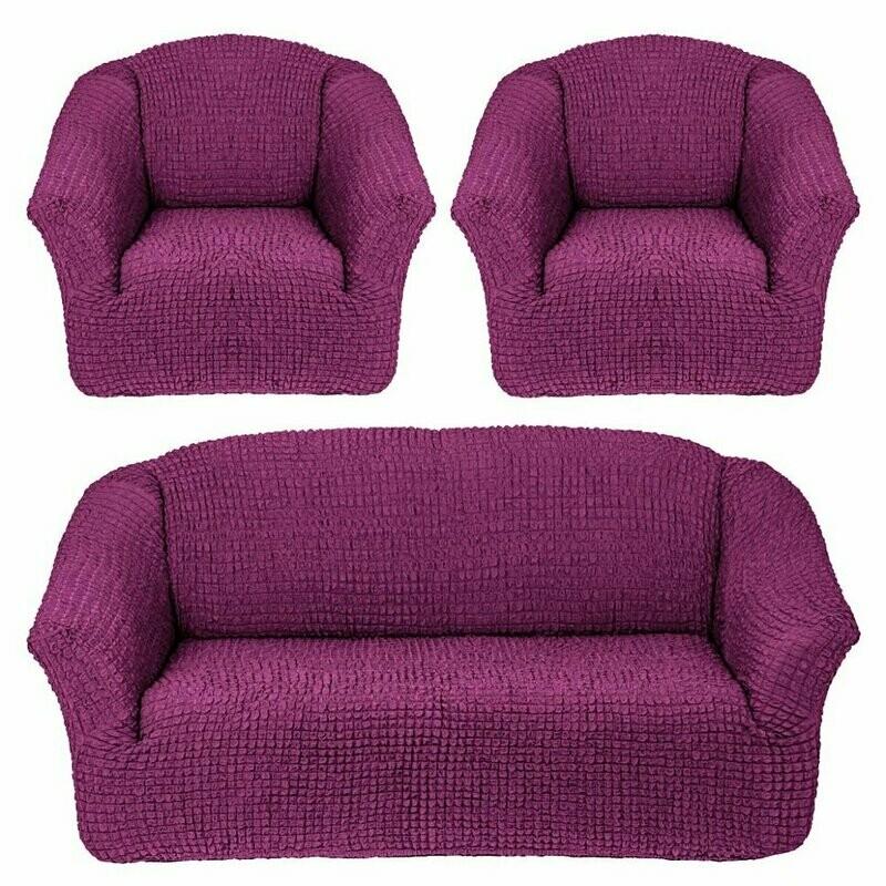 Чехлы на диван и 2 - кресла без оборок