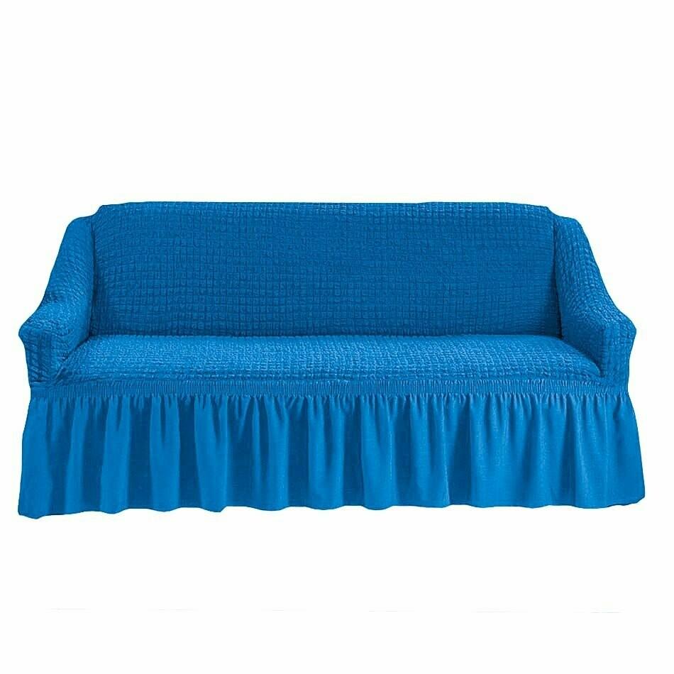Чехол на 3 местный диван с оборкой
