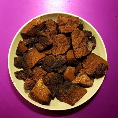 Chaga mushroom, pieces