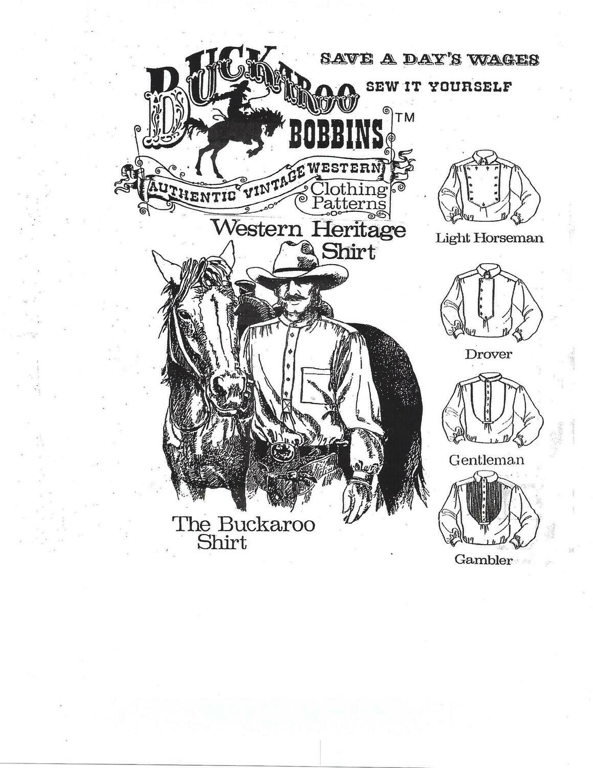 Western Heritage Shirt Pattern Package