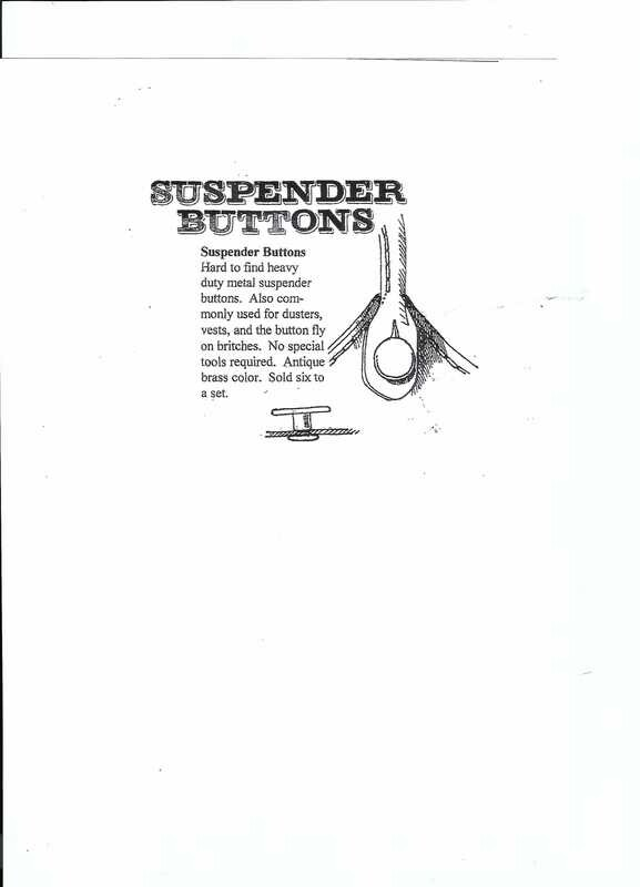 Suspender Buttons