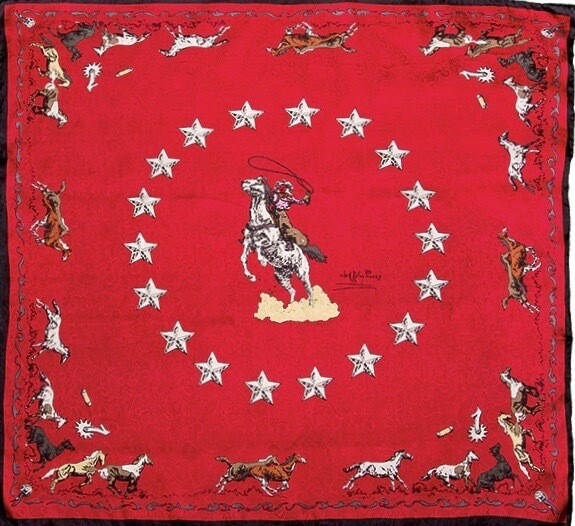 Red Mustang Limited Edition Silk Scarf