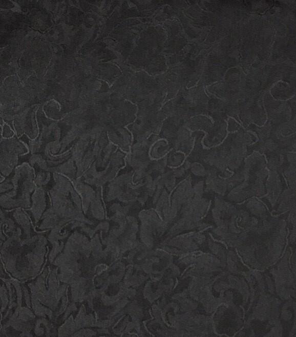 Black Jacquard Silk Scarf