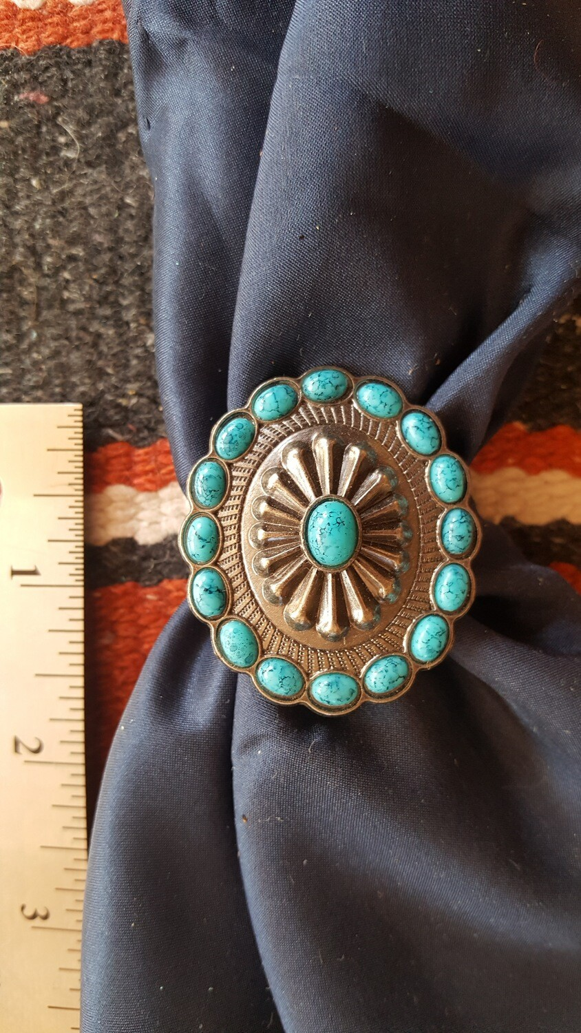 "Faux ""Turquoise"" Scarf Slide"