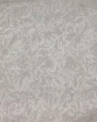 Silver Jacquard Silk Scarf