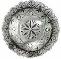 1-3/4 Inch Diameter Silver Engraved Windrose Concho