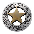 1-1/8 Inch Diameter Gold Star Concho