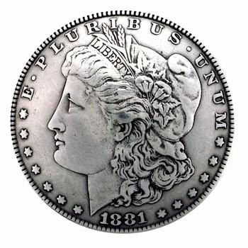 1-1/2 Inch Diameter Morgan Silver Dollar Reproduction Concho