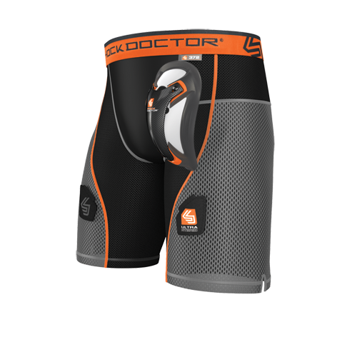 SHOCK DOCTOR ULTRA HYBRID HOCKEY SHORT WITH ULTRA CARBON FLEX CUP