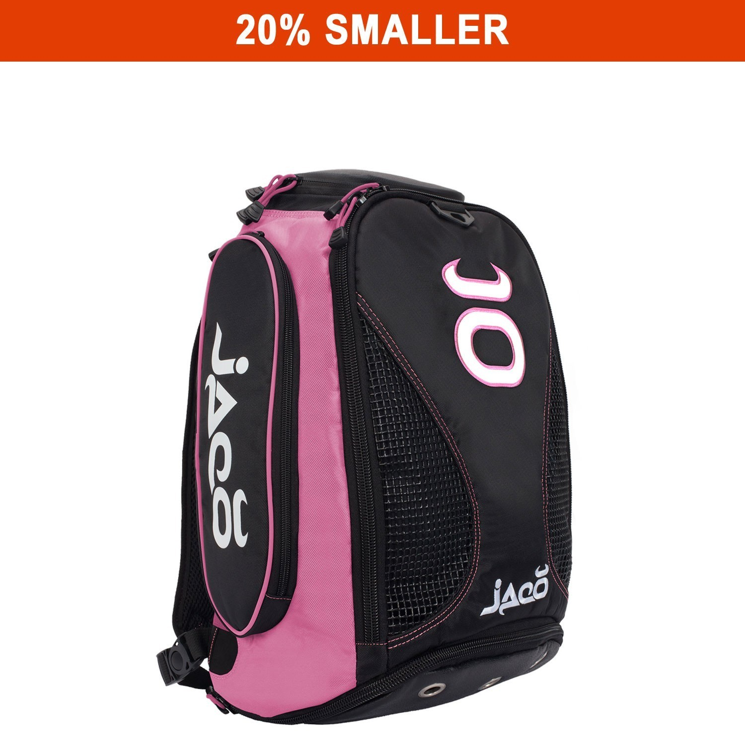 Compact Vented Convertible Equipment Bag (Black/Pink)