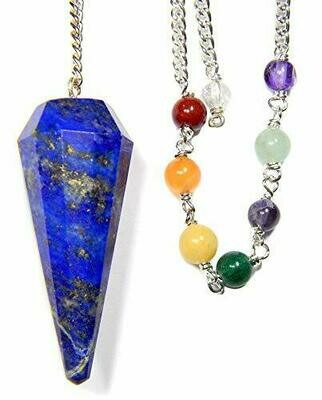 Enchanted Jewelry Lapis Faceted Chakra Pendulum for Divination