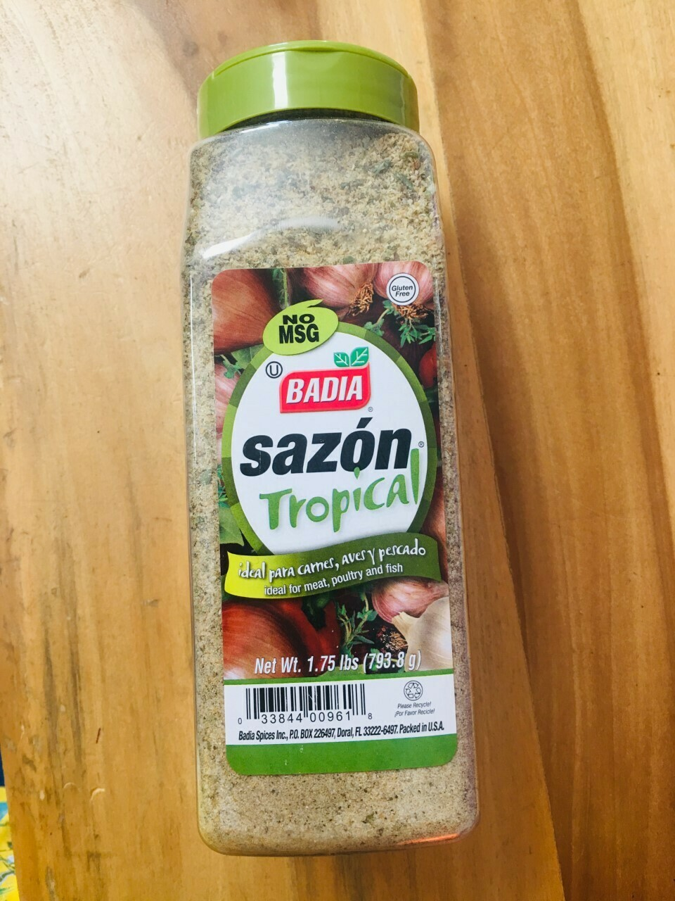 Badia sazon tropical seasoning 1.75 lbs (No MSG)