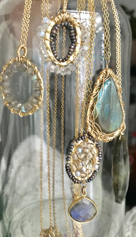 Ornate Labradorite Necklace