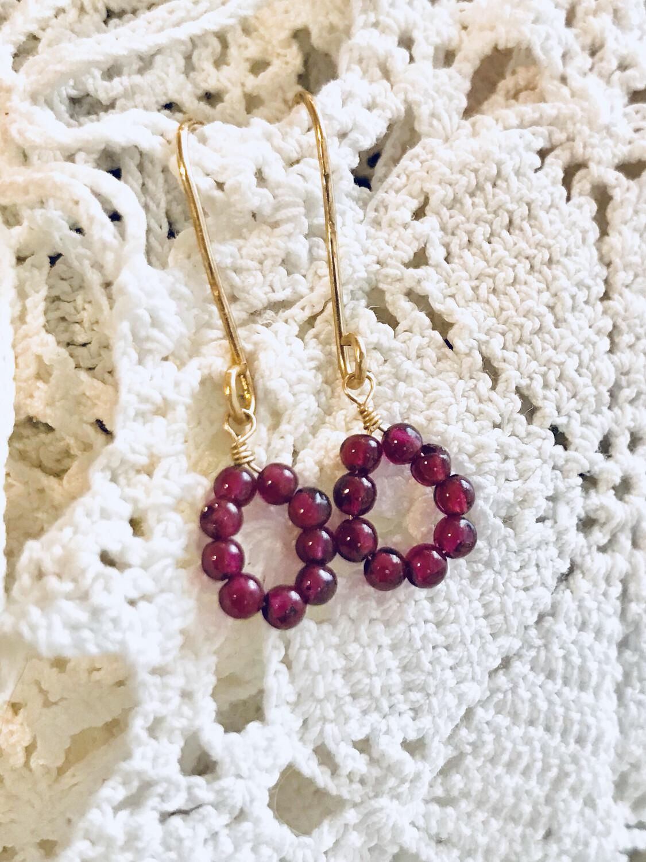Drops Of Garnet Earrings