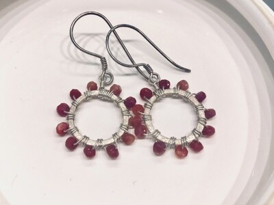 Resplendent Ruby Earrings