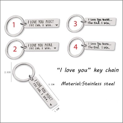 I Love You More/Most Key Chains