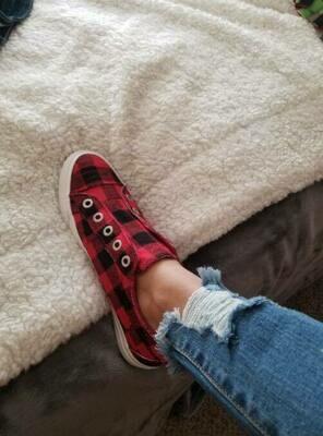 Plaid Canvas Shoes