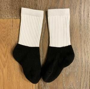 Cotton Bottom Polyester Top Kids Socks