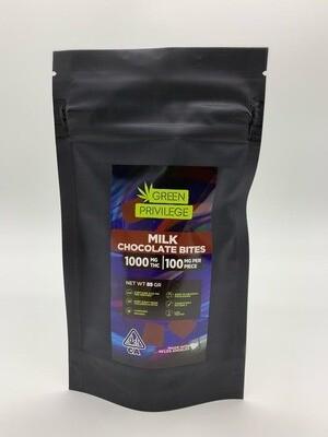 Green Privilege - Milk Chocolate Bites 1000mg