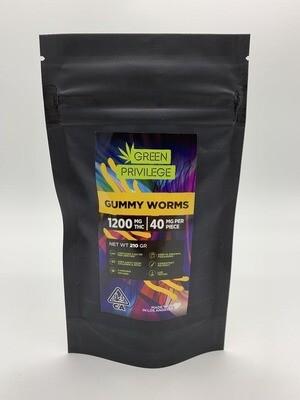 Green Privilege - Gummy Worms 1200mg